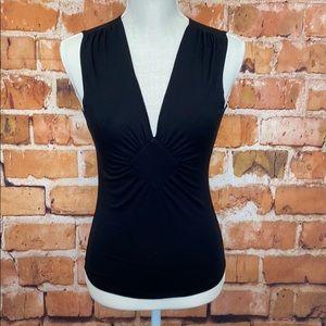 Banana Republic black sleeveless blouse